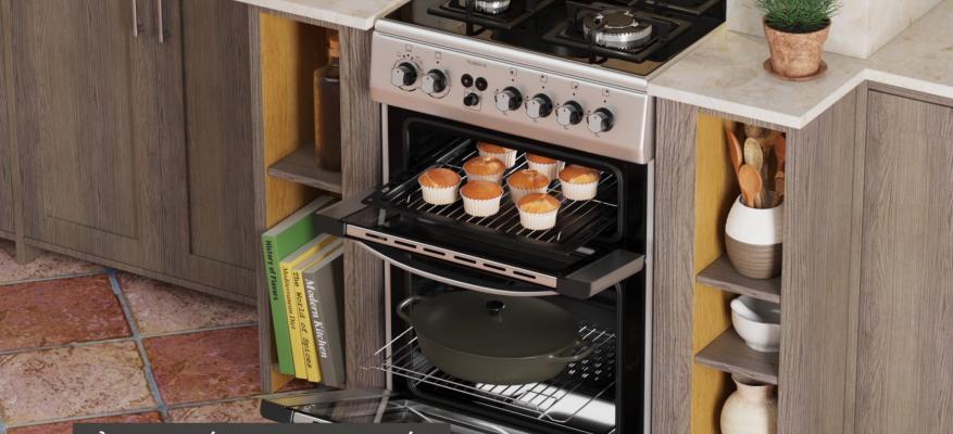 (VIDEO) TG 8000 IX | Μικτή Κουζίνα THERMOGATZ | Με Δύο Φούρνους, 1 Ηλεκτρικός + 1 Αερίου