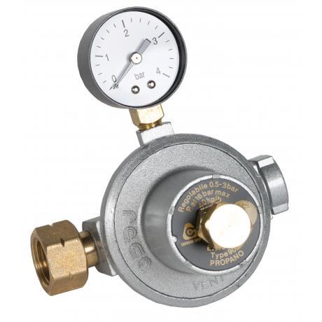 1st Stage Reca External High Pressure Regulator - 40kg w/ Manometer